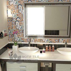 Gạch bông porcelain Hex-PP021 trang trí nhà tắm