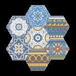 Gạch bông porcelain Hex-PP023
