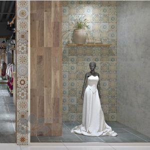 Gạch bông porcelain Sqa-PP105 trang trí nhà tắm