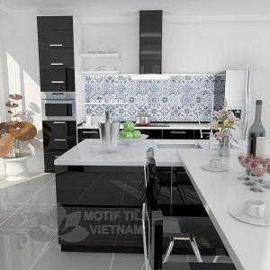 Gạch bông porcelain Sqa-PP108 trang trí nhà bếp