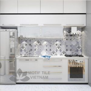 Gạch bông porcelain Sqa-PP114 ốp tường nhà bếp