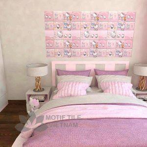 Gạch bông porcelain Sqa-PP127 trang trí phòng ngủ bé gái