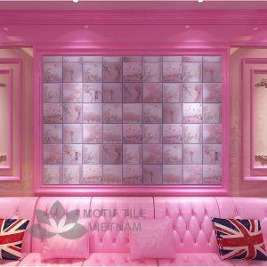 Gạch bông porcelain Sqa-PP130 trang trí phòng ngủ