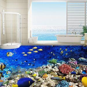 Gạch tranh 3D kính cường lực ốp tường chủ đề đại dương