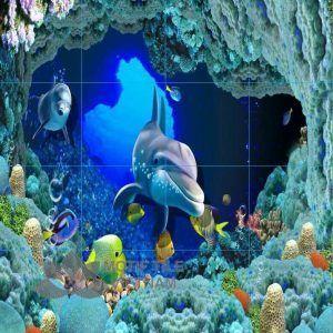 Gạch tranh 3D chủ đề đại dương