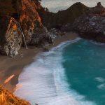 Tranh kính ốp tường bãi biển