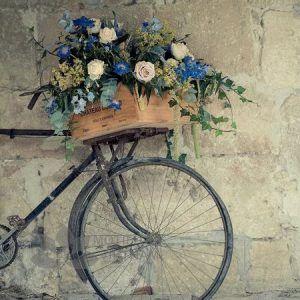 Tranh kính ốp tường xe đạp