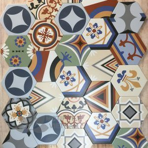 Gạch bông porcelain Hex-PP027