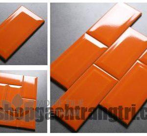 Gạch subway cam bóng vát 7.5x15cm SW75150(Orange)