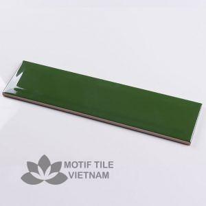 Gạch subway xanh đậm bóng vát 7.5x30cm SW75300V(Green)