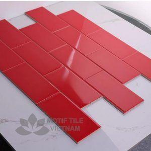 Gạch subway đỏ bóng 7.5x15cm SW75150(Red)