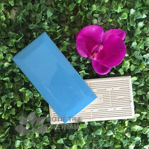 Gạch thẻ ốp tường subway xanh bóng vát 7.5x15cm SW75150V(Blue)