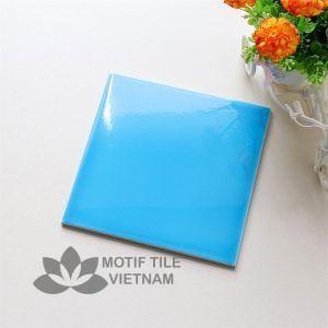 Gạch thẻ ốp tường subway xanh da trời bóng phẳng 15x15cm SW1515(Sky blue)