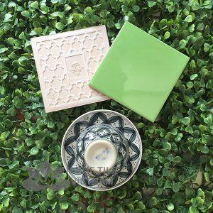 Gạch thẻ ốp tường subway xanh lá cây bóng phẳng 15x15cm SW1515(Green)