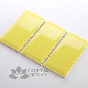 Gạch Thẻ Subway Vàng Bóng Vát 10X20Cm Sw1020V(Yellow)