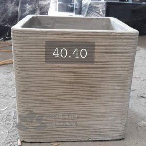 Chậu xi măng hình lập phương 40x40cm